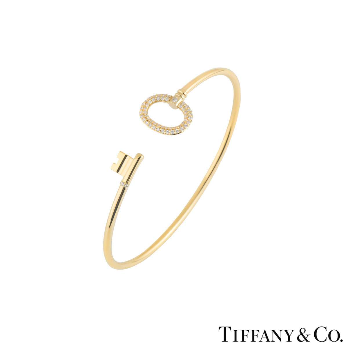Tiffany & Co. Keys Yellow Gold Wire Bracelet